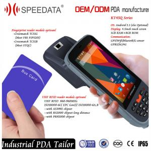 China Long Range UHF RFID Reader Writer Handheld RFID Reader 900mhz with Bluetooth on sale
