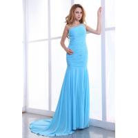 Mermaid Sweep Train Women Long Evening Party Dresses , Beaded One Shoulder Ball Gowns