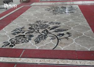 China Water Jet Stone Floor Medallions Flower Design For High End Venues Decoration on sale