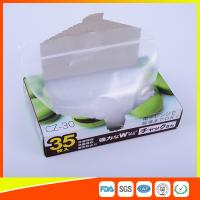 Transparent Plastic Zipper Top Zip Lock Bag For Cold Food Storage FDA Approved