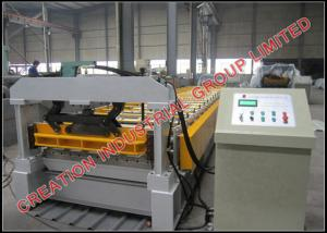China High Speed Roof Panel Roll Forming Machine Width 800mm / 1000mm on sale
