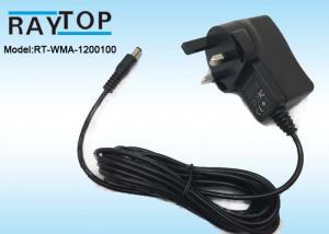 China UK Plug 12v wall adapter 1000mA , CE ROHS AC DC Adapter High Efficiency on sale