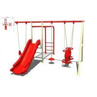 Custom Outdoor Plastic Kids Playground Swing Sets Kit For Backyard