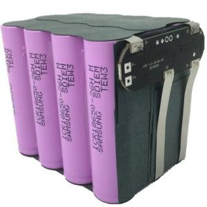 China Li-ion 18650 3S4P 11.1V 10.4Ah Battery Pack with PCM and Leading Wires on sale