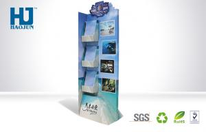 China Sidekick Tourist Guide Book POP Cardboard Counter Display 3 Tiers SGS Approval on sale