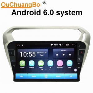 China Ouchuangbo car radio audio android 6.0 for Citroen Elysee Peugeot 301 with gps navi AUX USB 32 GB supplier
