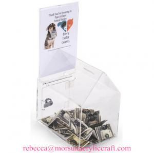 China House shape acrylic charity collection box / ballot box / comment box on sale