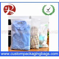 CPE Stronger Plastic Ziplock Bags For Packing Clothes , Clothes Packing Bags Clear