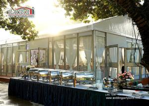 China White Top Glass Walling Luxury Wedding Tents for Outdoor Wedding Parties on sale