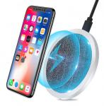 Aluminum Wireless Charger For Samsung Note 8 Galaxy S8 Plus S6 S7 Edge 10 QI Wireless Charger Pad For iPhone X