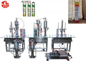 China PU Foam Spray Can Filling Machine For Leaking Stoppage / Weather Proofing on sale