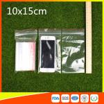 China 10 x 15 Clear Reclosable Zipper Plastic Bag / Self Sealing Poly Bag wholesale