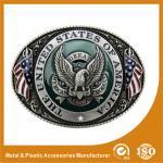 Fivela de cinto feita sob encomenda ocidental da prata do preto de Engravable para acessórios da correia