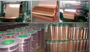 China EMI Shielding Copper Foil Tape Conductive Copper Foil Tape EMI/RFI Shielding Tape on sale