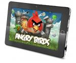 Black 10 inch Android 2.2 MID Touchpad Tablet Computer With Square Center Button, GPS