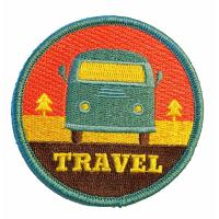 High Density Iron On Embroidered Patches For School Cloth Brand
