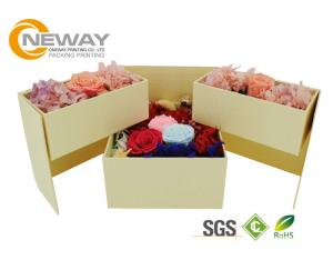 China Exquisite Packaging Flower Gift Box For Roses , Pretty Flower Shipping Boxes supplier