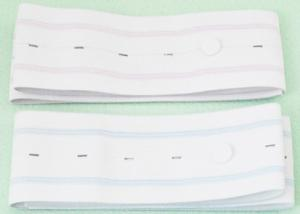 China 5 Inch Buttonholes Fetal Heart Monitor Belt Colorful Stripes For Pregnant Women on sale