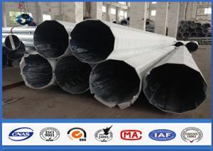 China 69KV Galvanized Sub Transmission Electric Utility Pole / Power Distribution Pole on sale