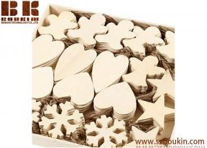 China A Box of 90 Wooden Blank Shapes to Decorate Large 9 to 11cm 4mm Heart Star Angel Snowflake on sale