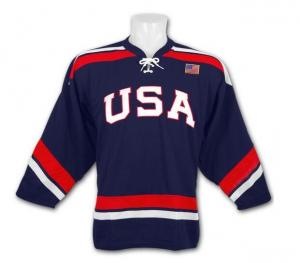 China Custom china manufacturer american flag hockey jersey Breathable Adult Men-6341 on sale