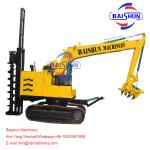 5-8T Crane Auger Pole Erection Machine Drilling Rig Mounted On Tractor For Telegraph