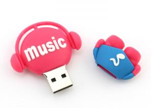 China PVC Custom USB Flash Drives Cute Music Man Real Full Capacity USB Thumb Drives on sale