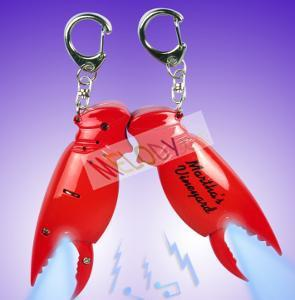 China Promo crab claw LED keychain with sound with one led light on sale