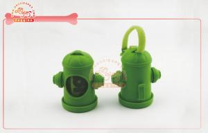 China Disposable Fire Hydrant Pet Bag Dispenser With Plastic Waste Bag Refill On Roll on sale