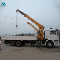 China HOWO 6x4 10 Ton Folding Boom Truck Mounted Crane Engine 160hp - 290hp on sale