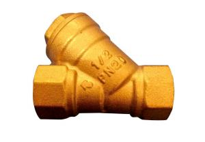 China Brass Y Connector Plumbing , Water Filter Valve / Strainer Valve Protect Pumps on sale