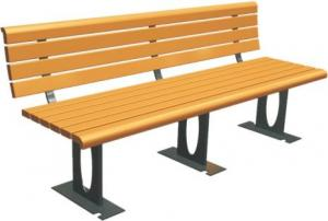 China Outdoor Recreation Center Recycled Park Bench Eco - Friendly Customizable Color on sale