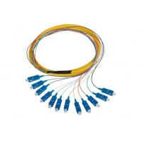 SC UPC APC Bundle optical Fiber Pigtail , Yellow / Orange Single Mode Pigtail