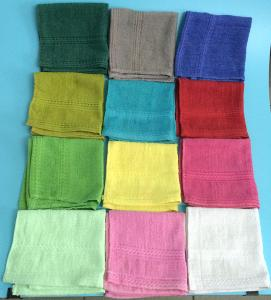 China Colorful Plain Dyed Hotel Cotton Hand Towel on sale