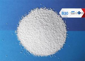China Dust Free Ceramic Bead Blasting Media B30 Sand Blasting Surface Finishing on sale