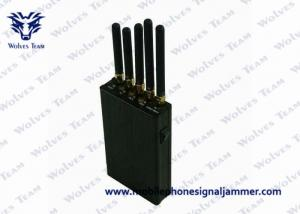China 5 Antenna Portable Signal Jammer for GPS / Cell Phone WiFi 100-240v Power Supply on sale