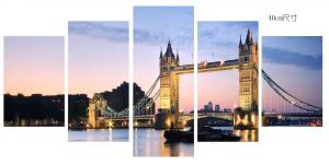 China Customized Canvas Prints Wall Art Tower Bridge Sunset Scenery Long Life Span on sale