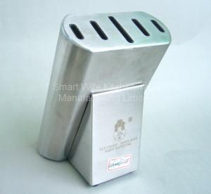 China Substantial stainless steel knife block for 5pcs knives on sale