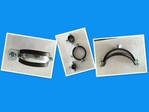 China 1.8 mm / 2.0 mm Thick Rubber Pipe Clamp For Heating / Sanitary Pipe Lines on sale