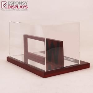 China Acrylic and Pine Wood Sunglasses Small Display Box with Light and Lock on sale