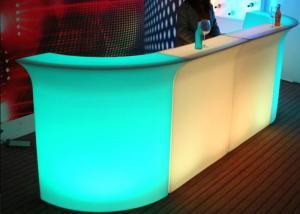 China Durable Beautiful Romantic Led Bar Furniture Flashing Club Counter PE High Level Materials on sale