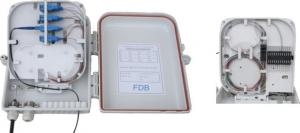China Optical Fiber Distribution Cabinet , Wall Mounted Distribution Box 16F Capaticy on sale