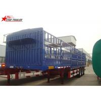 60T Roof Opened Steel Dry Van Trailer , Dry Box Trailer With Tri Axles