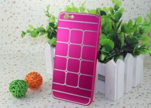 China Durable Pink Aluminum + PC Iphone Protective Cases / Brushed Metal Phone Case on sale