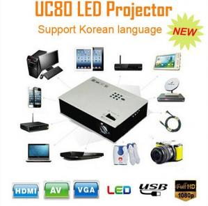 China Full HD LED Mini Projector UC80 Korean version home theater Beamer with HDMI on sale