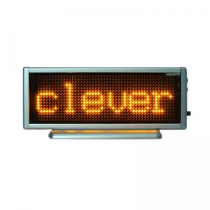 China Rechargeable LED Message Display Yellow color B1648AY on sale
