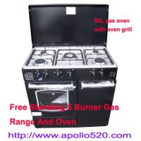 China Gas Cooking Range And Oven Free Standing on sale