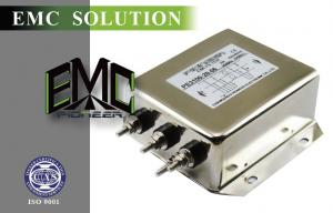 China Safety 20 A Screw EMI Filter , Three Phase Power Line Filter on sale