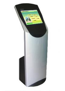 China Floor Standing Self Service Kiosk 4096 x 4096 mm Pixel Touch For Bank on sale