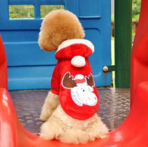 China Custom made Cotton and polyester Christmas dog clothes costume for Poodles on sale